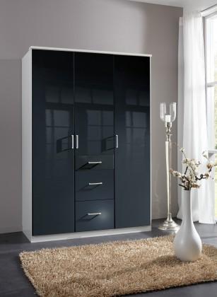 Klasická Clack - Skříň, 3x dveře (černá, bílá)