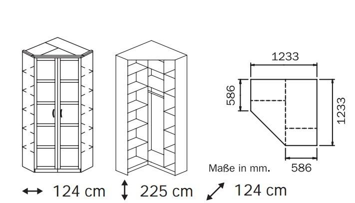 Klasická Elementa A A1006.5075 (Buk natur/sklo bílé)