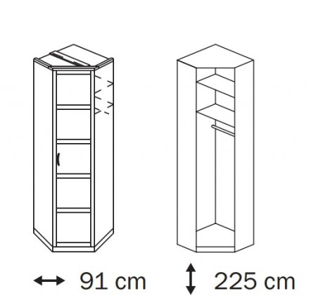 Klasická Elementa A A1006.50U5 (Buk natur/sklo světle hnědé)