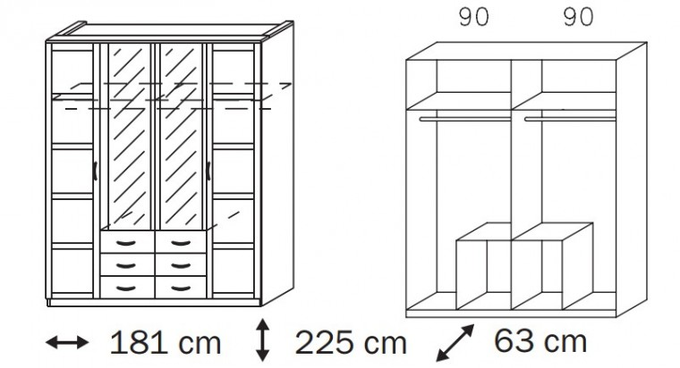 Klasická Elementa A A1006.5182 (Buk natur/sklo bílé)