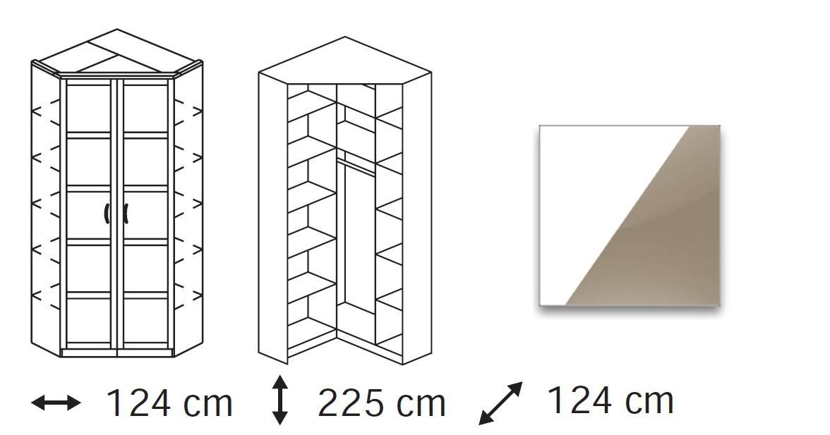 Klasická Elementa A (Alpská bílá/sklo světle hnědé)