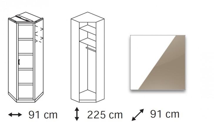 Klasická Elementa A - skříň rohová, 1x dveře
