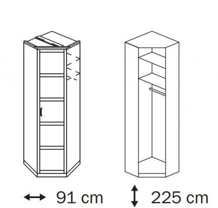 Klasická Elementa B A1007.50R5 (Buk natur/sklo bordó)