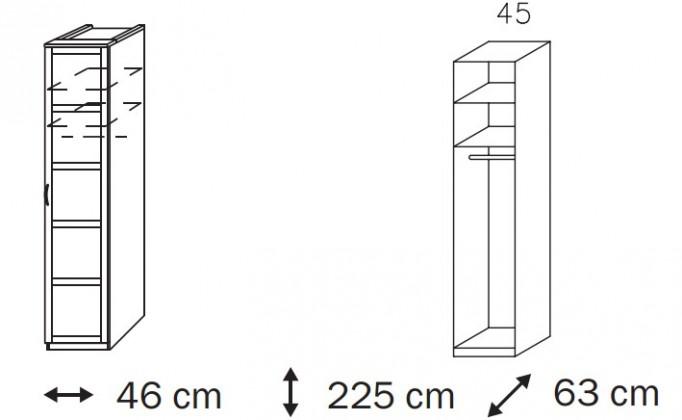 Klasická Elementa B A1007.50S1 (Buk natur/sklo černé)