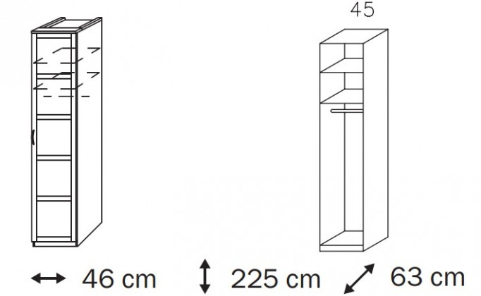 Klasická Elementa B A1097.4044 (Buk natur/šedá metal)