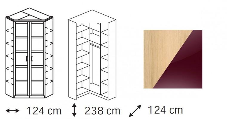 Klasická Elementa B - šatní skříň, 2x dveře