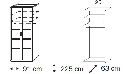 Klasická Elementa C A1008.5097 (Buk natur/sklo bílé)
