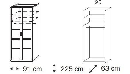 Klasická Elementa C A1008.50U2 (Buk natur/sklo světle hnědé)