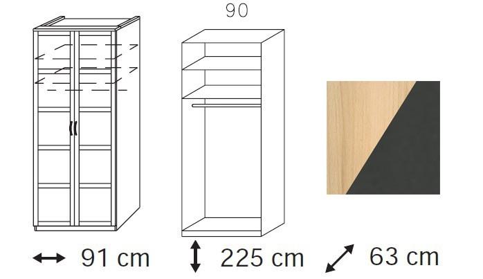 Klasická Elementa C A1098.4094 (Buk natur/šedá metal)
