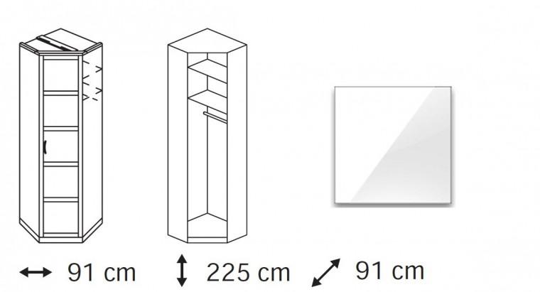 Klasická Elementa C (Alpská bílá/sklo bílé)