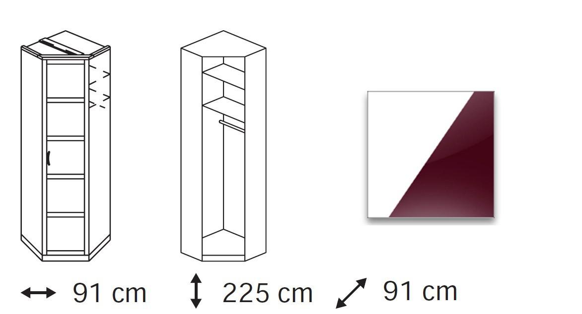 Klasická Elementa C (Alpská bílá/sklo bordó)