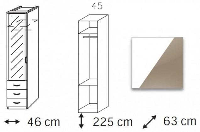 Klasická Elementa C (Alpská bílá/sklo světle hnědé)
