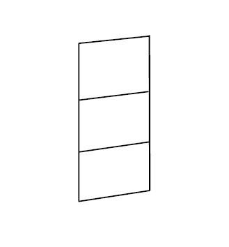 Klasická Match Up - Dveře, 3x dekor sklo/zrcadlo (313,černé sklo)