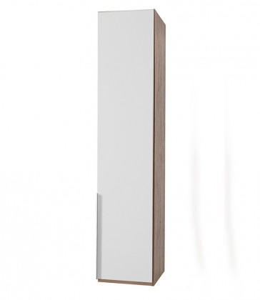 Klasická NewYork1 - Skříň, 45/234/58 (alpská bílá/ořech)