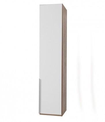 Klasická NewYork22 - Skříň, 45/208/58 (alpská bílá/ořech)