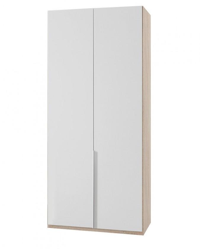 Klasická NewYork23 - Skříň, 90/208/58 (alpská bílá/dub)