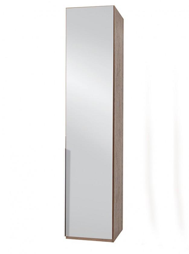 Klasická NewYork28 - Skříň, 45/208/58 (zrcadlo/ořech) P18503