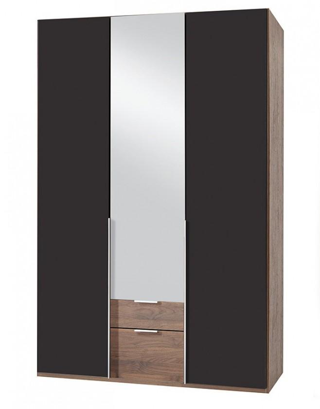 Klasická NewYork37 - Skříň, 135/208/58 (láva/ořech)