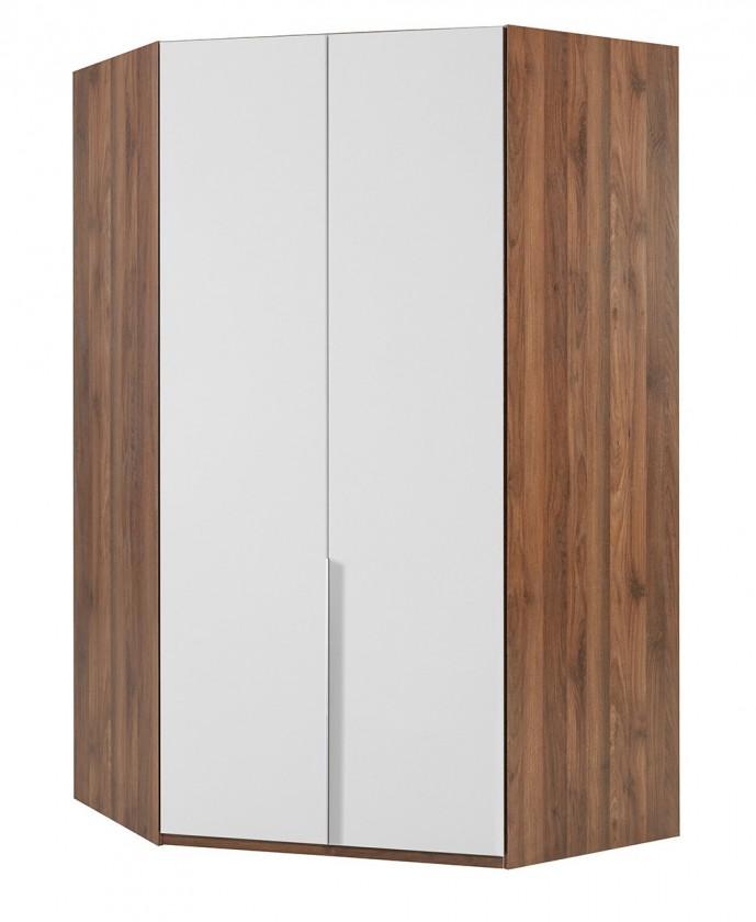 Klasická NewYork41 - Skříň, 120/208/120 (alpská bílá/ořech)
