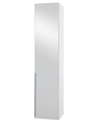 Klasická NewYork7 - Skříň, 50/234/58 (zrcadlo/alpská bílá)
