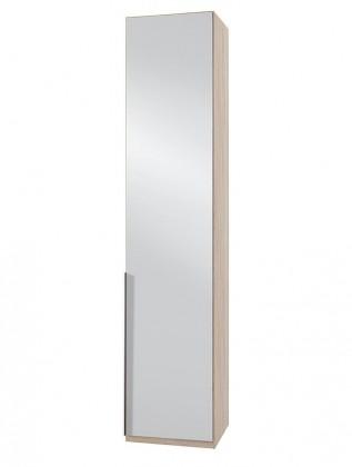 Klasická NewYork7 - Skříň, 50/234/58 (zrcadlo/dub)