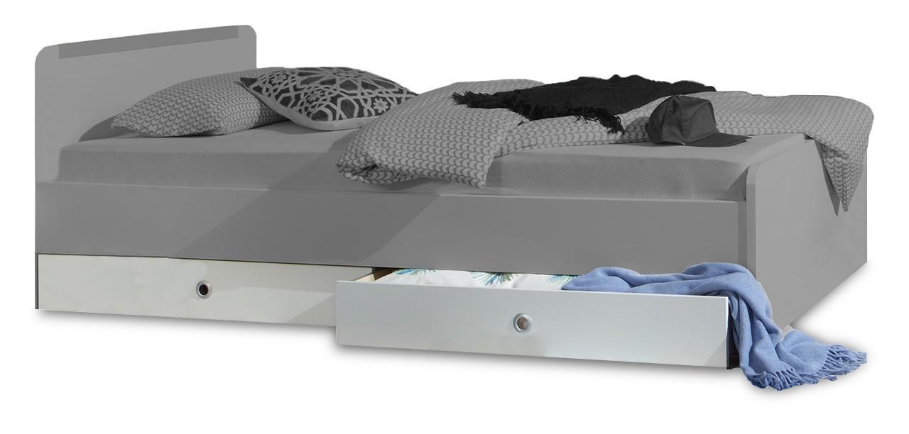 Klasická postel Bibi - Úložný prostor k posteli (alpská bílá, zelené jablko)