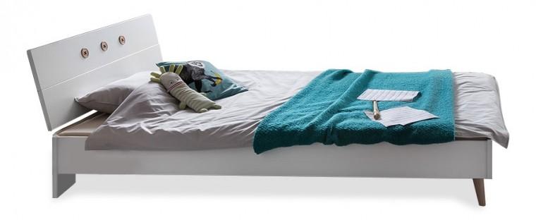 Klasická postel Billund - Postel 120x200 (alpská bílá, dub)