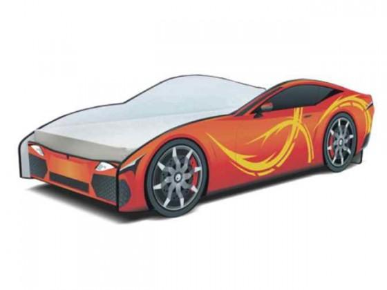 Klasická postel Cars - Dětská postel (oranžová)