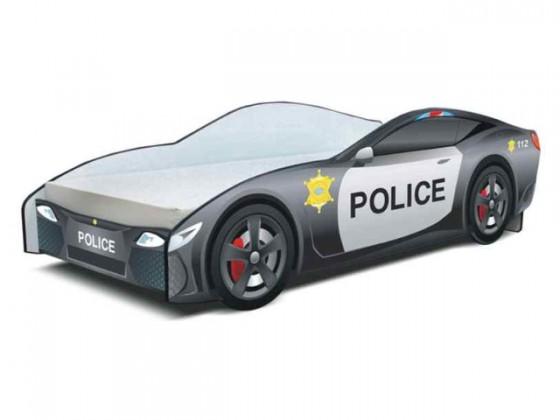 Klasická postel Cars - Dětská postel (policie)