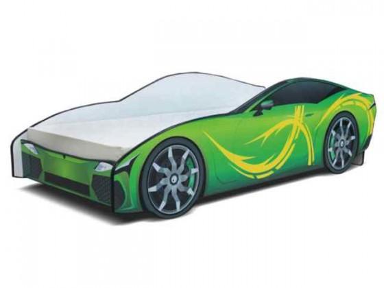 Klasická postel Cars - Dětská postel (zelená)