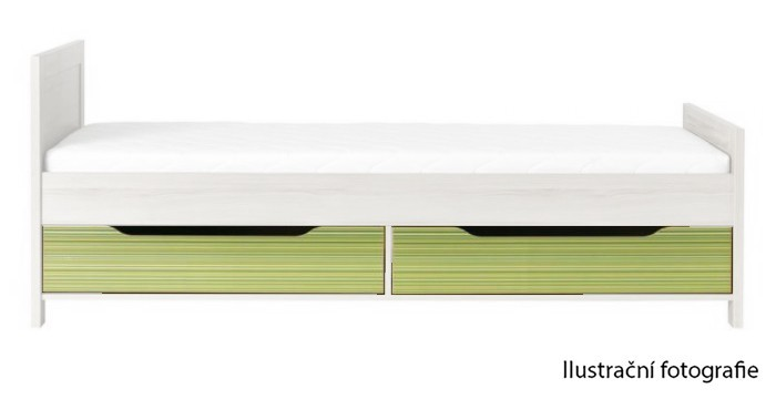 Klasická postel Codi CD 16 (višeň cornvall/zelená)