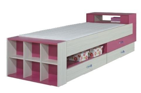 Klasická postel Dětská postel Komi KM 17 (růžová)