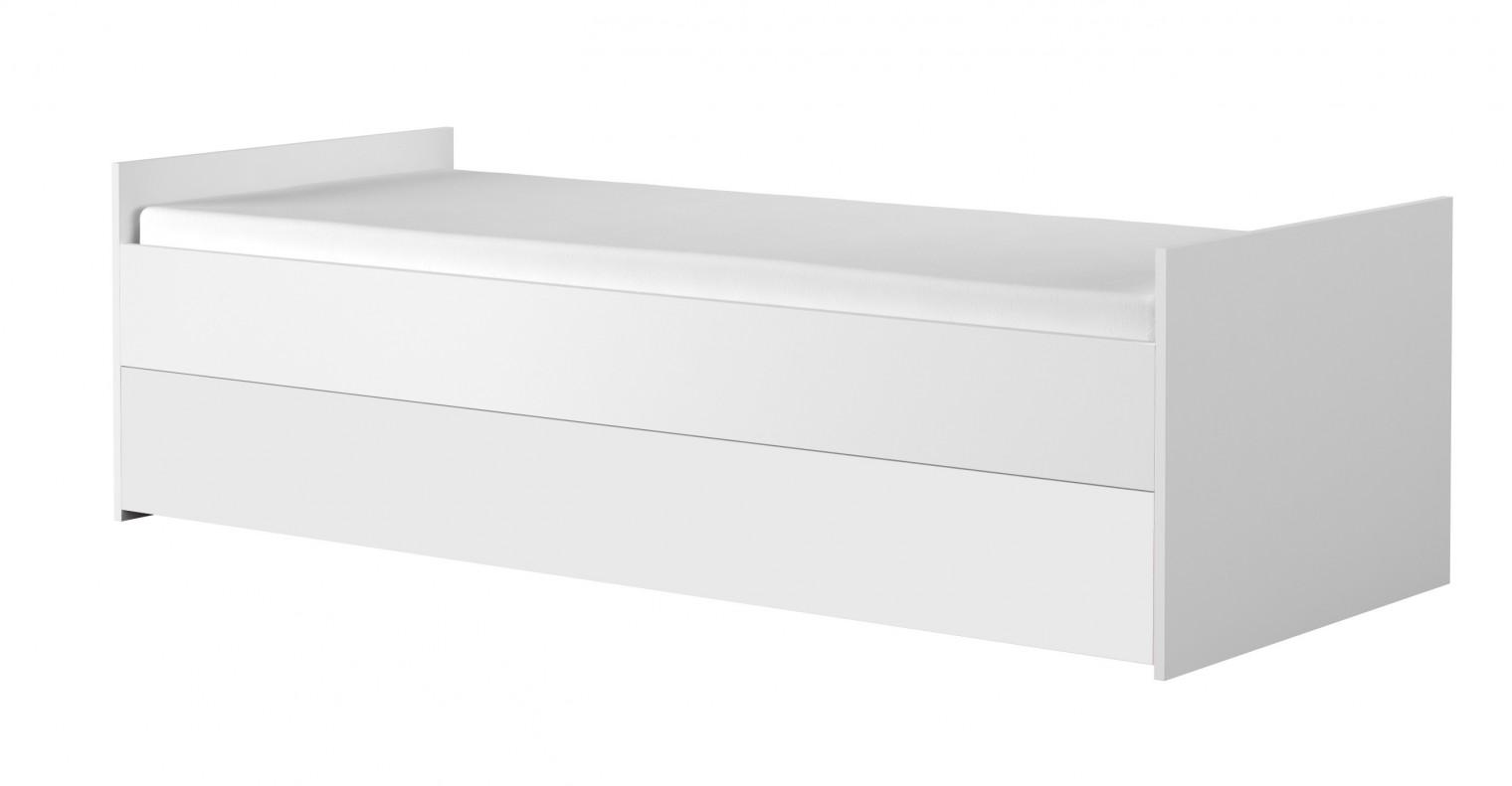 Klasická postel Dětská postel Simba15 (korpus bílá/front bílá a zelený medvídek)