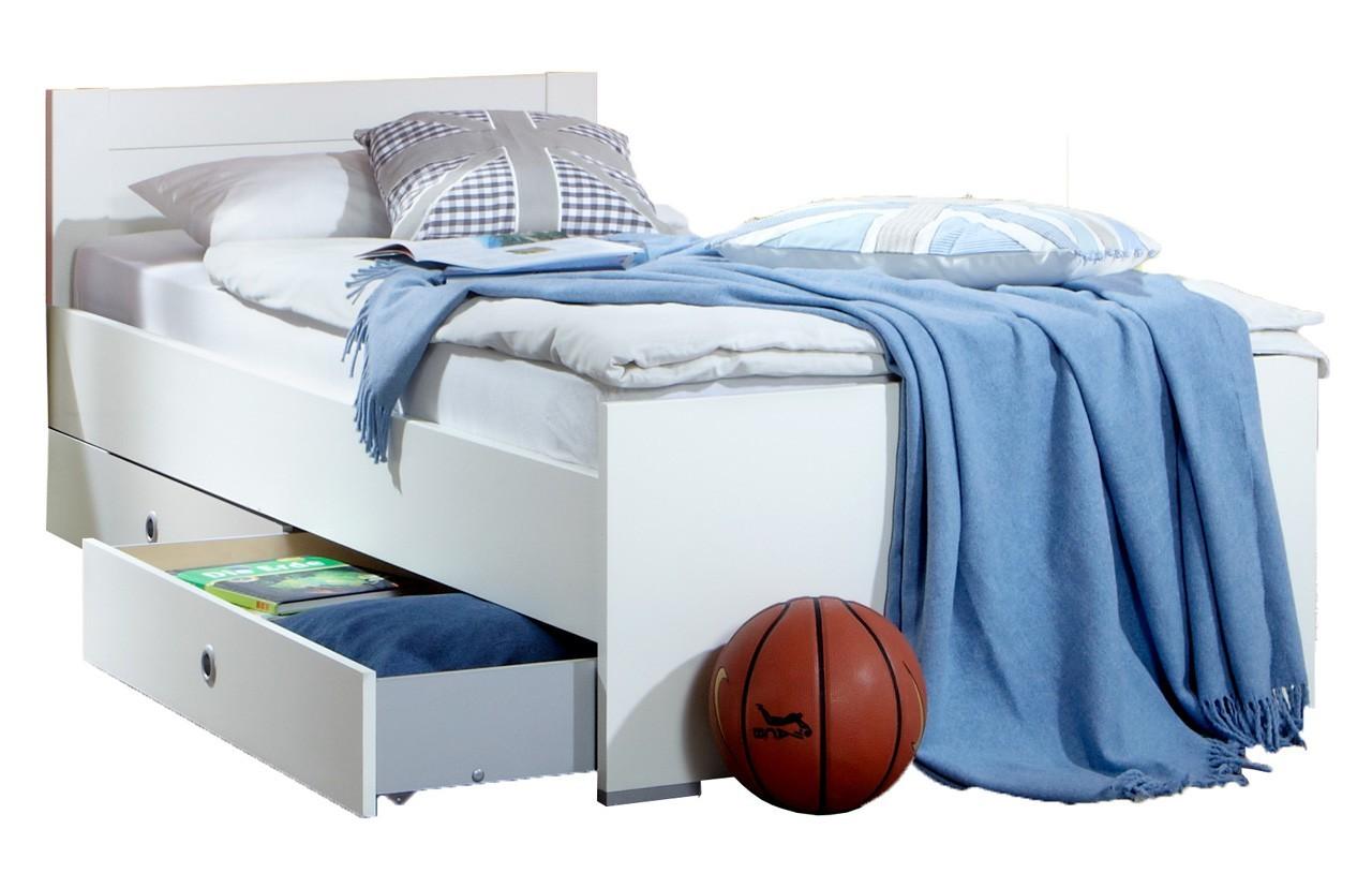 Klasická postel Filou - Postel 90x200 cm s úložným prostorem (alpská bílá)