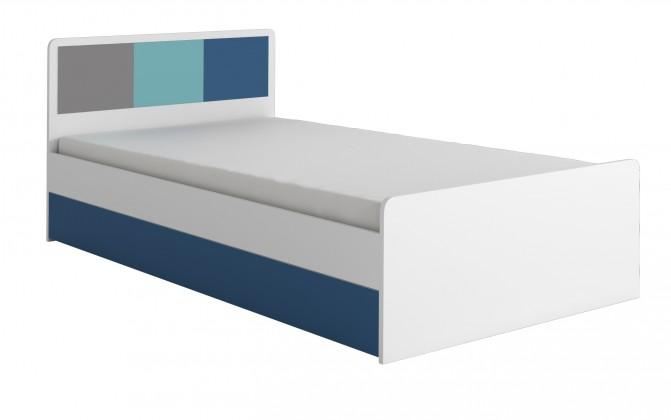 Klasická postel FOX 16 - Postel (modrá)