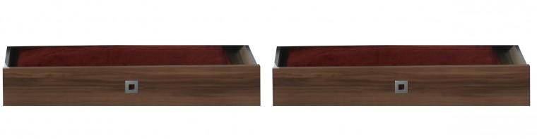 Klasická postel Jette - 317288 (alpská bílá / ořech vlašský)
