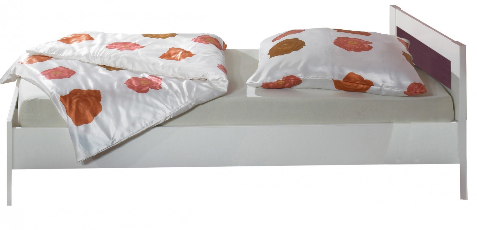 Klasická postel Jette - 366299 (alpská bílá / ostružina)