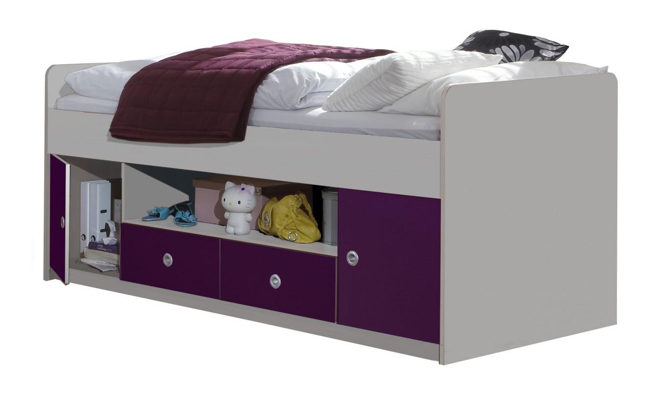 Klasická postel Jette - 366467 (alpská bílá / ostružina)