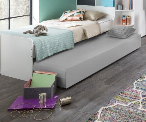 Klasická postel Joker - Postel 90x200 cm (bílá, antracit)