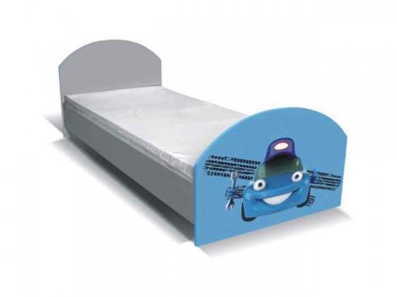 Klasická postel Junior mechanik - Postel (šedá/modrá)