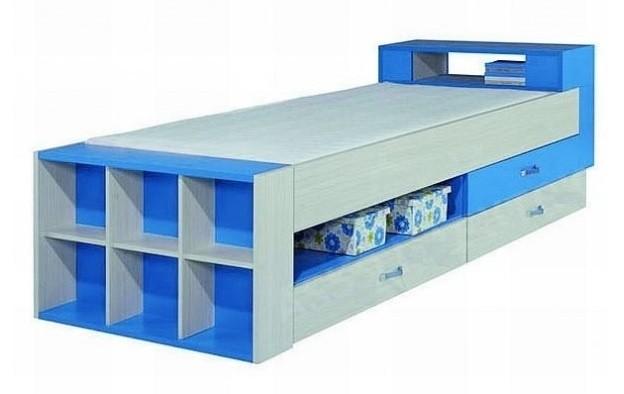 Klasická postel Komi KM 17 (Modrá)