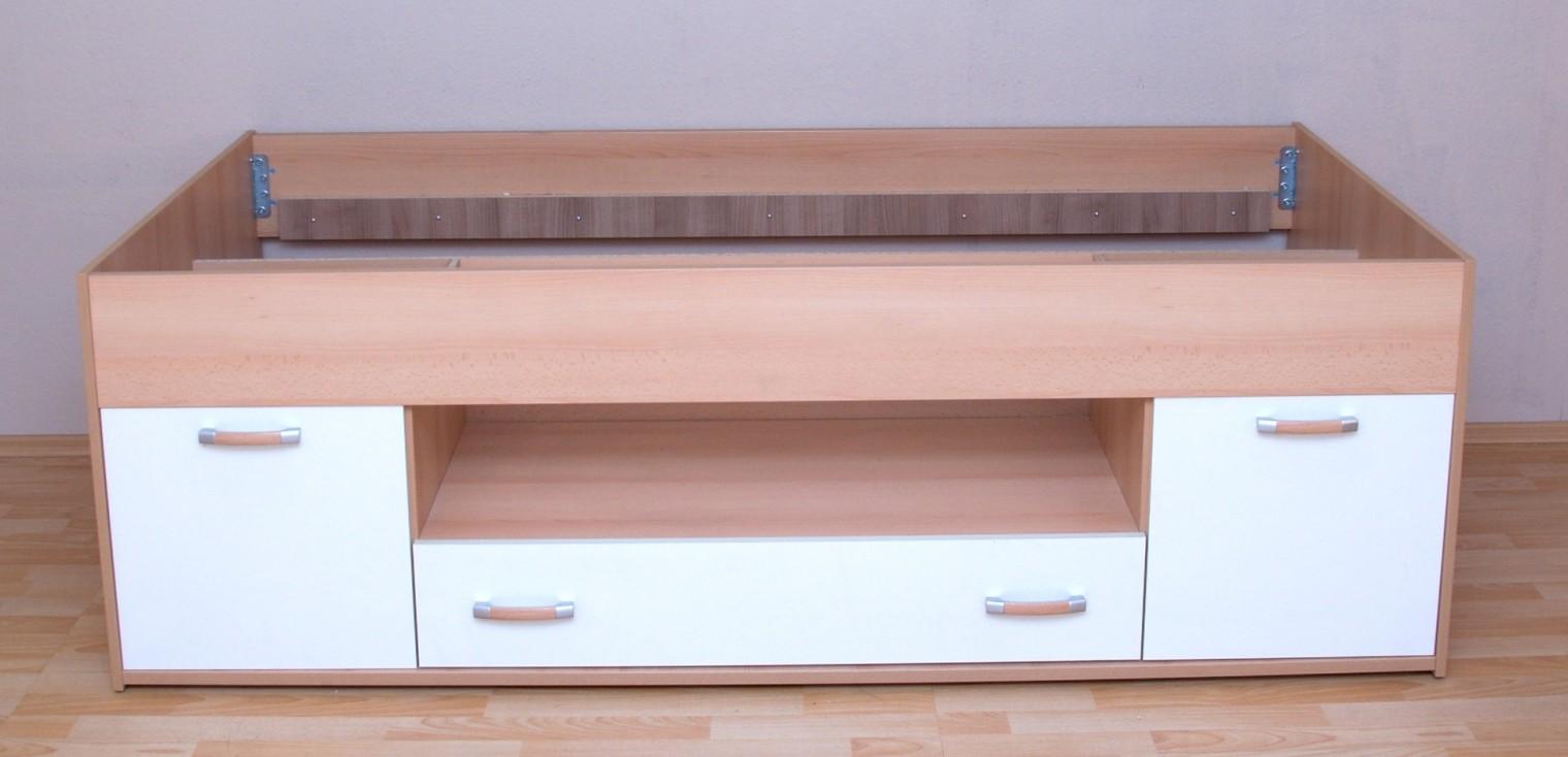 Klasická postel LAMIVEX Twingo (Buk/slonová kost)