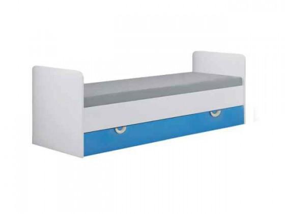 Klasická postel Manta - Postel 15 (modrá)