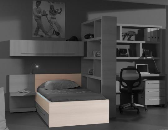 Klasická postel Match - postel, 120x200 cm (borovice carrizo)