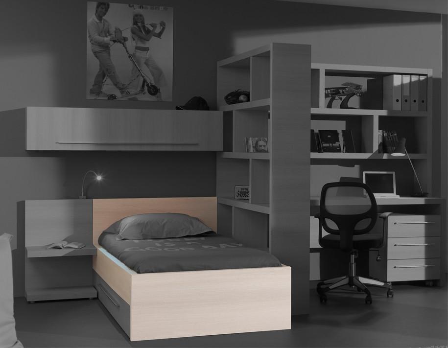 Klasická postel Match - postel, 90x200 cm (borovice carrizo)