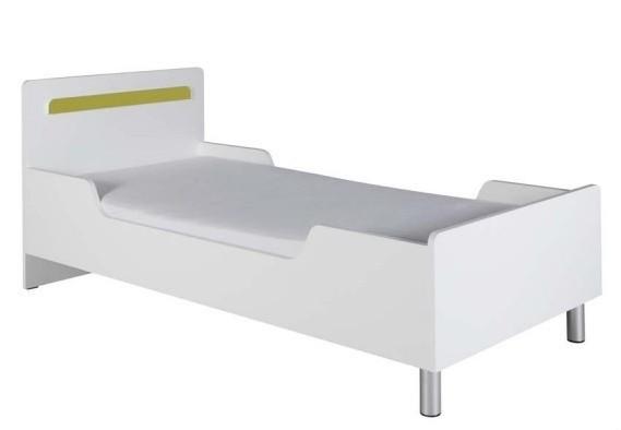 Klasická postel Nemo 12 (Bílá/Zelená)