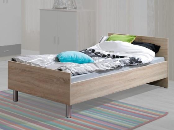 Klasická postel Oskar 6(dub sonoma/krémová/šedá)
