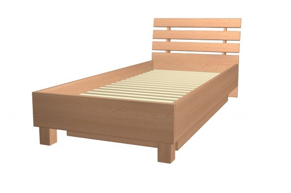Klasická postel Point  Typ 90/200 P (Javor/orange)
