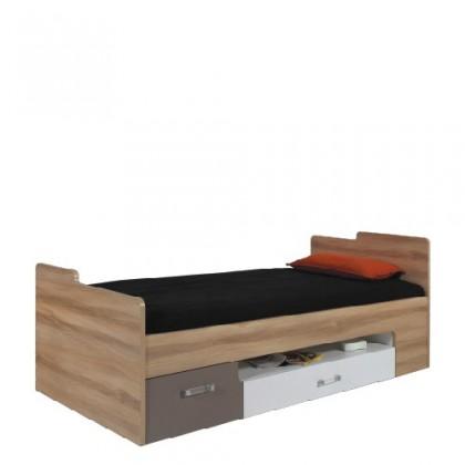 Klasická postel Postel BLOG BL 20 (jilm/bílá lesk/cappucino)