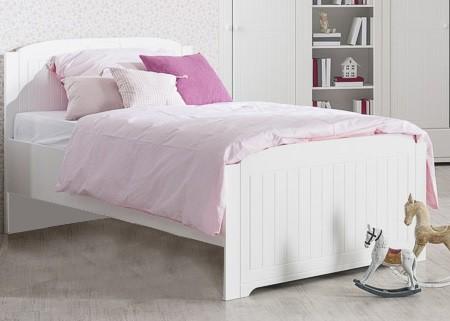 Klasická postel Postel Santorini - 90x200 cm (bílá arctic)